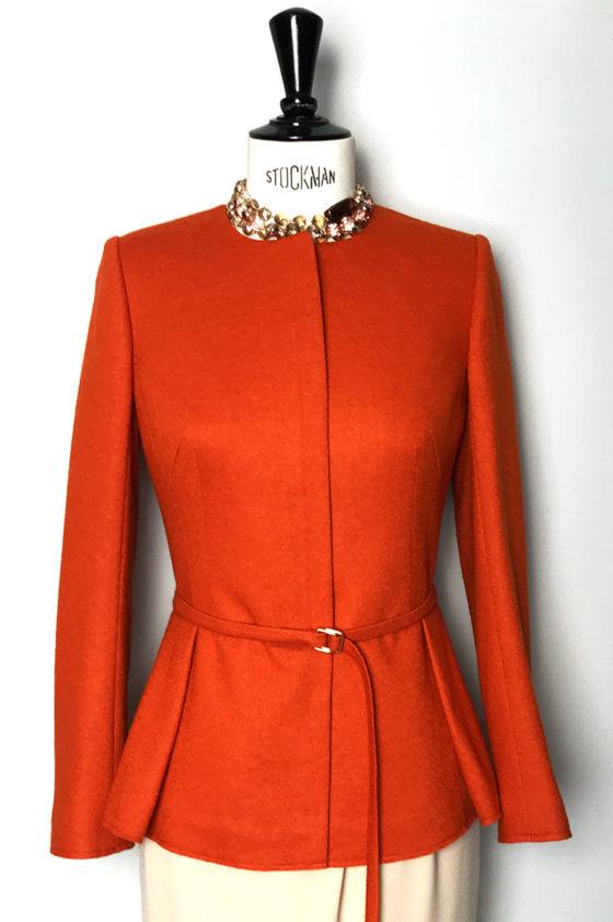 Сако оранжево, с цип