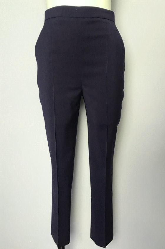 Панталон тъмносин със златисти ципове на крачолите