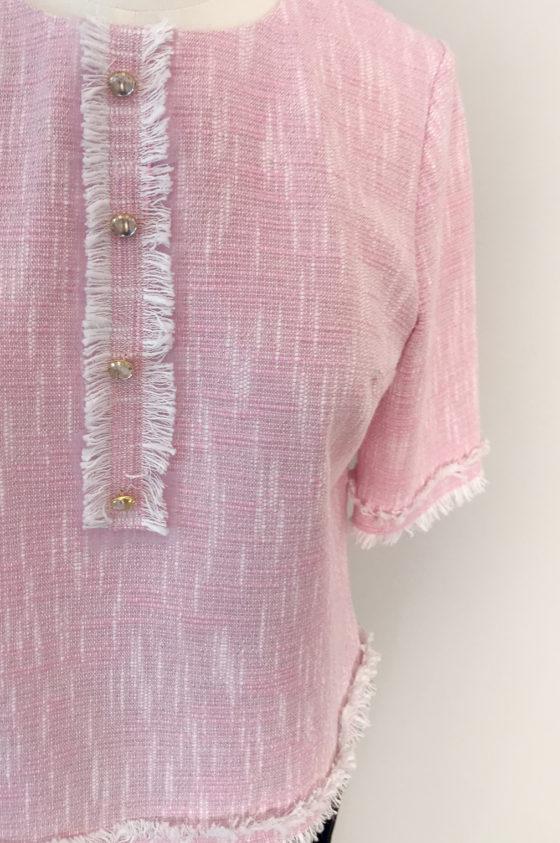 Блуза розов меланж