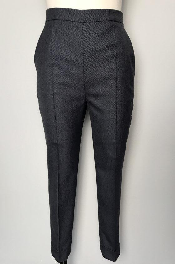 Панталон сиво/син меланж